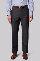 Moss Esq. Regular Fit Grey Dot Semi Plain Pants