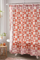 Urban Outfitters Puck Patchwork Print Shower Curtain