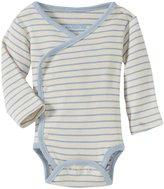Jo-Jo JoJo Maman Bebe Organic Bodysuit (Baby)-Cream/Blue-Preemie