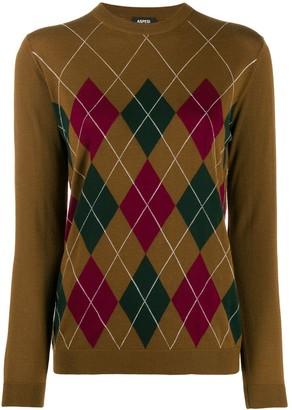 Aspesi Argyle knit jumper