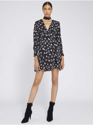 Alice + Olivia ELIA CUT OUT HEART MINI DRESS