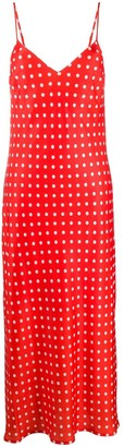 Essentiel Antwerp Veva polka-dot maxi dress