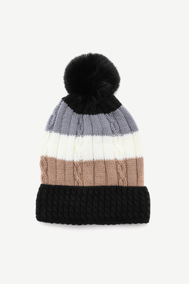 Ardene Color Block Cable Knit Beanie