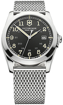 Victorinox 241585 Infantry Stainless Steel Mesh Bracelet Strap Watch, Silver/black