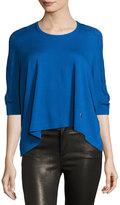 Kenzo Maglia Arched-Hem Sweater, Blue