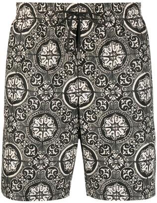Dolce & Gabbana Maiolica-print swim shorts