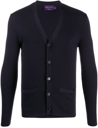 Ralph Lauren Purple Label Button-Down Fitted Cardigan