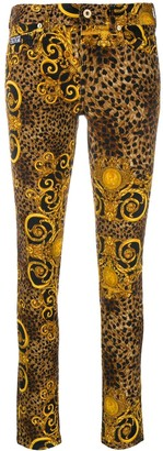 Versace Jeans Couture Leopard Print Skinny Jeans
