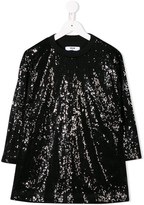 MSGM Kids sequined knitted dress