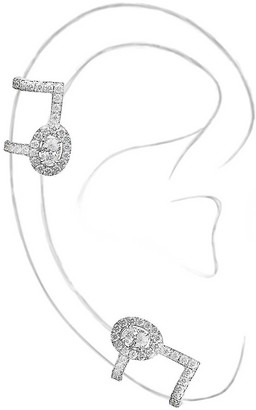 Messika Glam'Azone 18ct white-gold and pave diamond earrings