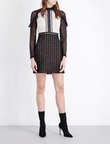 Self-Portrait Monochrome Geometric mini dress