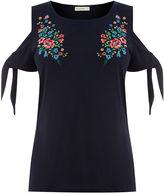 Oasis Embroidered Tie Sleeve Tee