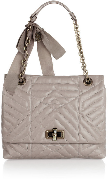 Lanvin The Happy medium quilted leather shoulder bag