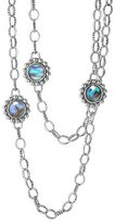 Lagos Silver Maya Abalone Chain Link Necklace
