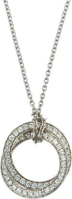 Nephora 14k White Gold Diamond Interlocking Pendant Necklace