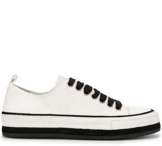 Ann Demeulemeester Bi-Colour Low-Top Trainers