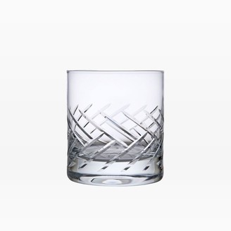 west elm Schott Zwiesel Cut Glass Double Old Fashioned Glasses