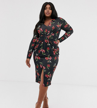 Unique21 Hero floral gathered front dress