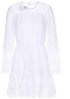 Valentino Embroidered cotton-blend dress