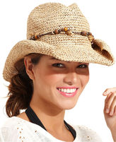 Nine West Macy's Hat, Casual Cowboy with Wooden Beads