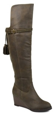 Journee Collection Jezebel Extra Wide Calf Over The Knee Wedge Boot