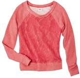 Mossimo Juniors Lace Overlay Top - Assorted Colors