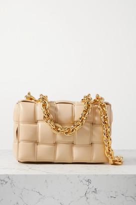 Bottega Veneta Cassette Chain-embellished Padded Intrecciato Leather Shoulder Bag - Beige