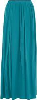 Tory Burch Gabby pleated silk crepe de chine maxi skirt