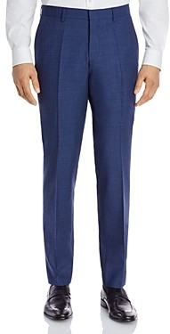 HUGO BOSS Genius Textured Solid Slim Fit Dress Pants
