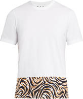 Marni Animal-printed panel cotton T-shirt
