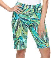 Caribbean Joe Women's Tropical Print Bermuda Shorts