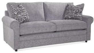 "Braxton Culler Edgeworth 85"" Rolled Arm Sofa Bed Fabric: Blue and Cream Stripe; 0201-64"