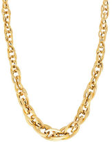 Lord & Taylor 14K Yellow Gold Multi Interlock Oval Link Necklace