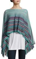Missoni Zigzag Pattern Winter Poncho