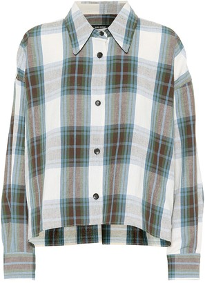 Isabel Marant Macao plaid cotton and linen shirt