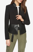 BCBGMAXAZRIA Barrett Faux-Leather Peplum Jacket