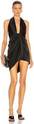 Alexandre Vauthier Halter Ruched Mini Dress in Black | FWRD