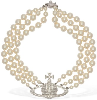 Vivienne Westwood THREE ROW FAUX PEARL NECKLACE