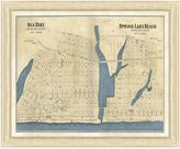 Bed Bath & Beyond Framed Map of Sea Girt, NJ Wall Décor