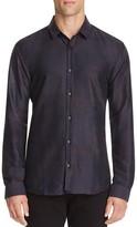 HUGO Ero 3 Abstract Plaid Slim Fit Button Down Shirt