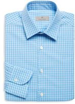 Canali Gingham Slim-Fit Dress Shirt
