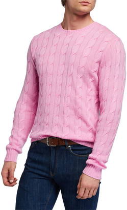 Ralph Lauren Purple Label Men's Cable-Knit Crewneck Sweater