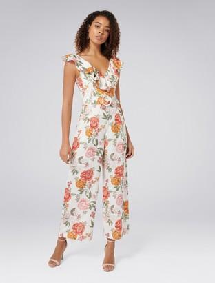 Forever New Sage Belted Linen Culotte Jumpsuit - Bloom Print - 4