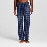 Merona Men's Poplin Sleep Pant Navy/Blue Plaid