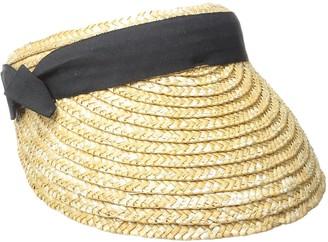 San Diego Hat Company Women's 4-inch Brim Wheat Straw Visor with Pop Color