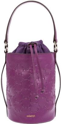 Mianqa Feride Cylinder Woven Bag Purple