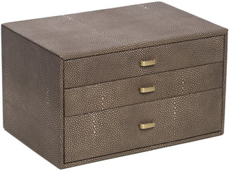 Bey-Berk Bey Berk Three Level Leather Jewelry Storage Box