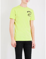 Off-white C/o Virgil Abloh Construction-print Cotton-jersey T-shirt