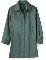 Classic Women's Petite 3/4 Sleeve Performance Twill Shirt-Pale Emerald