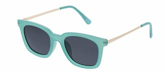 Peepers Women's Endless Summer Polarized Sunglasses Square Turquoise & Gold 49 mm
